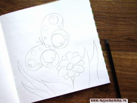 Рисование луга