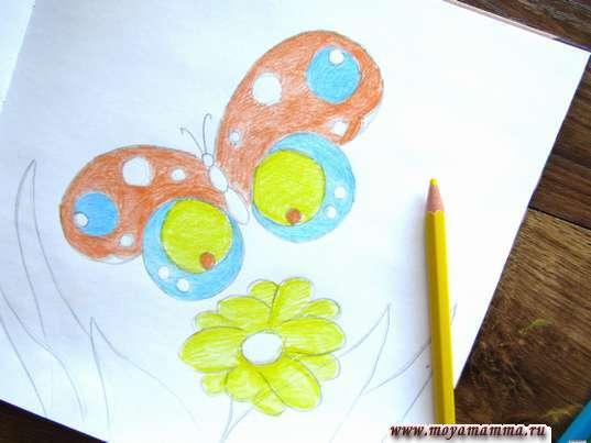 Рисование желтым карандашом