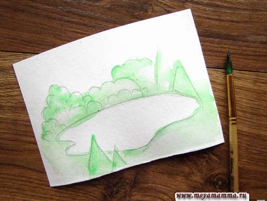 Рисование зеленым цветом