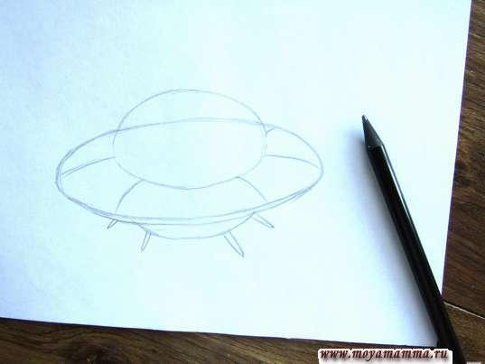 Набросок основных частей тарелки