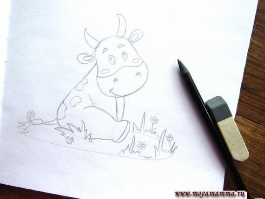 Рисование лужайки