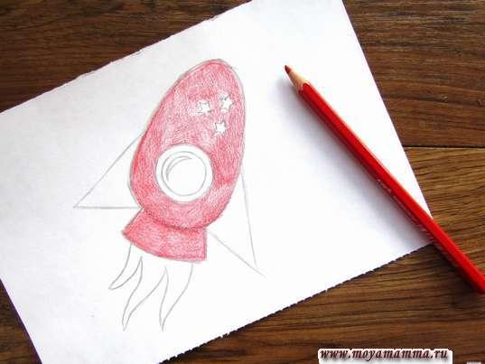 Раскрашивание красным карандашом