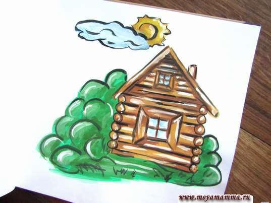Рисунок лето в деревне
