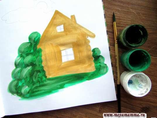 Зелень вокруг дома