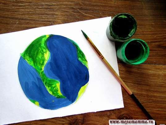 Добавление зеленых оттенков