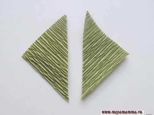 Разрезанный по диагонали квадрат