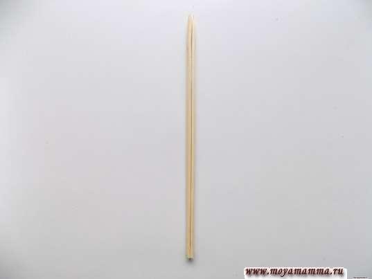Склеенные деревянные палочки
