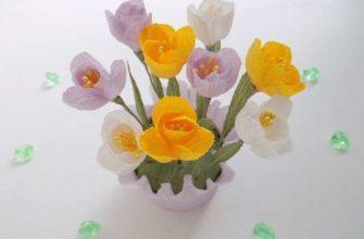 Цветы в коробке из бумаги