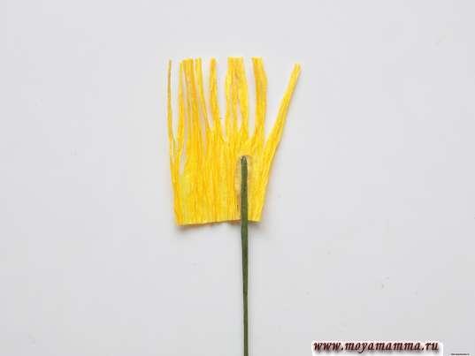 Приклеивание флористической проволоки
