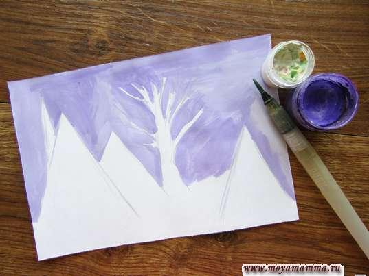 Рисование зимнего неба