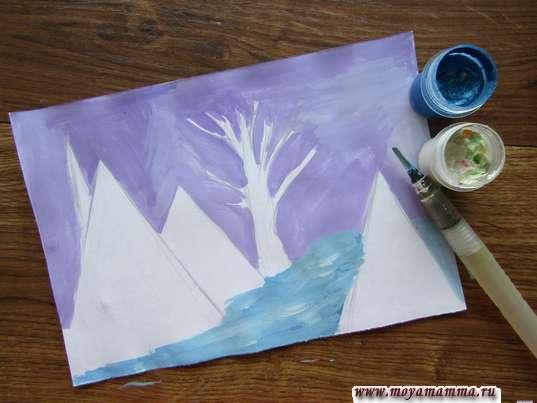 Рисование снега