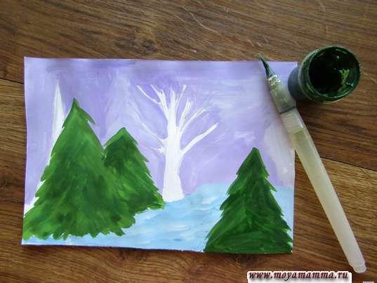 Закрашивание елок