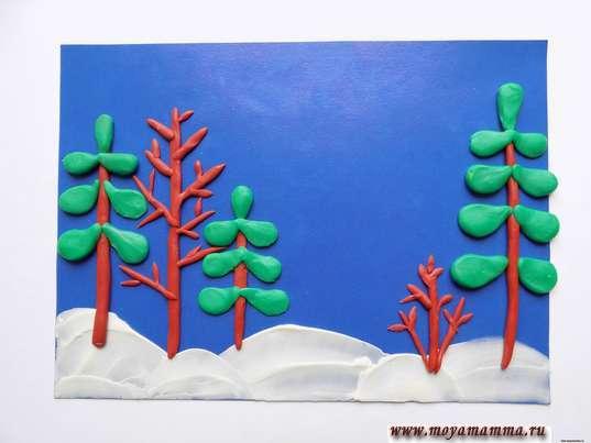 Изготовление ветвей деревьев
