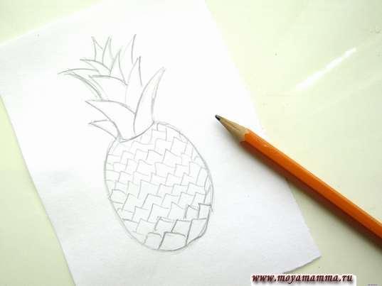 Набросок ананаса