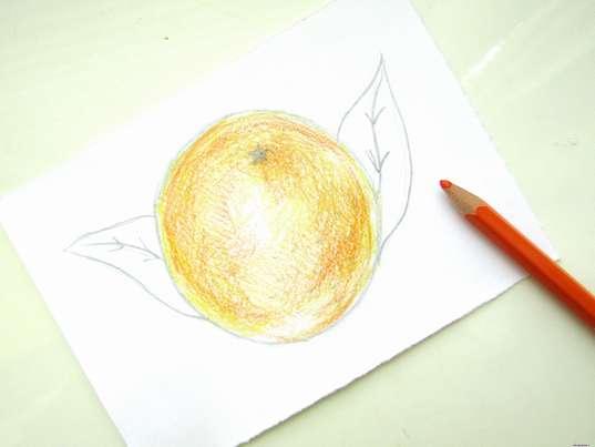 Использование оранжевого карандаша