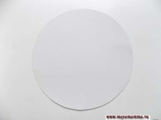 Круг, вырезанный из белого картона