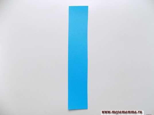 Широкая полоса темно-голубого цвета