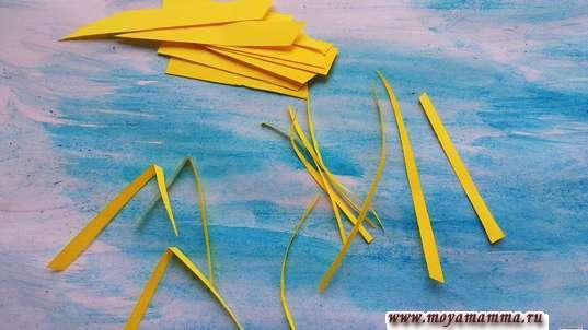 Полоски бумаги для колосьев пшеницы