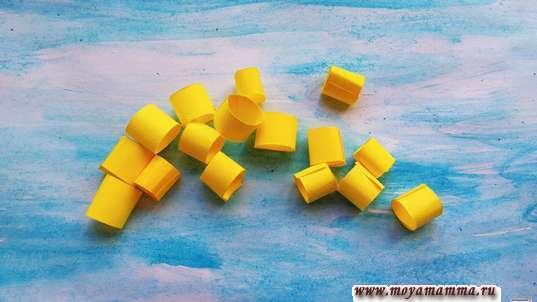 Колечки из бумаги - зерна пшеницы