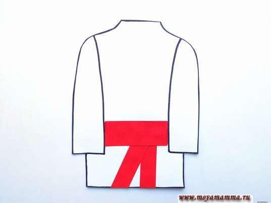 Аппликация русский народный костюм. Дооформление пояса рубахи