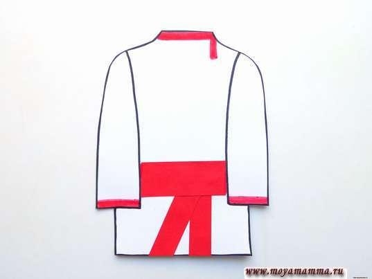 Аппликация русский народный костюм. Мужская рубаха