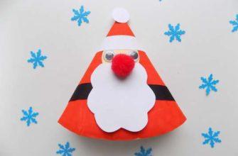Дед Мороз из тарелки