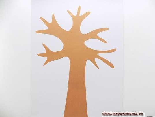 Дерево из коричневой бумаги