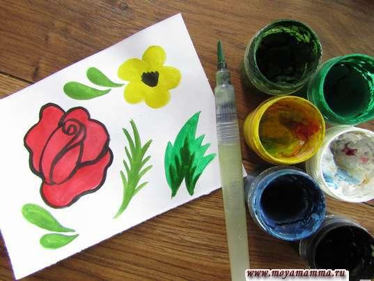 элементы семеновской росписи