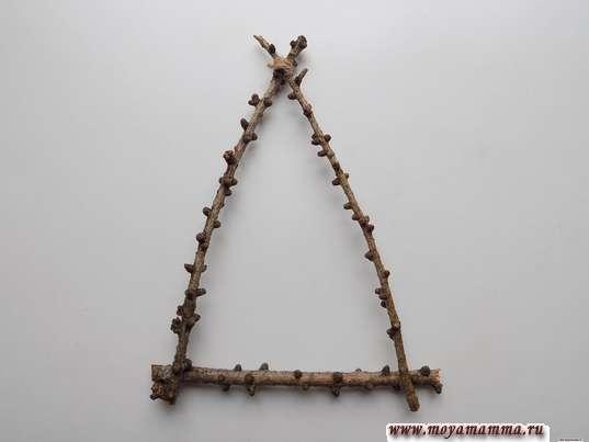Треугольная основа для елочки