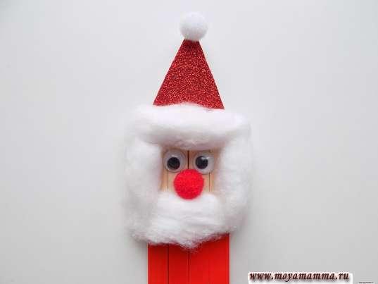 Оформление лица Деда Мороза