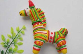 филимоновская игрушка из пластилина