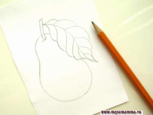 Рисование листика
