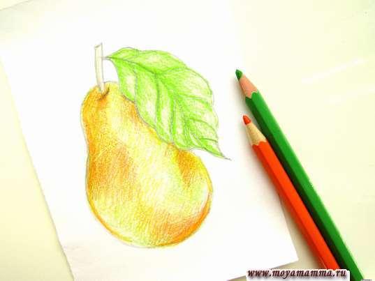 Использование зеленого и оранжевого цветов