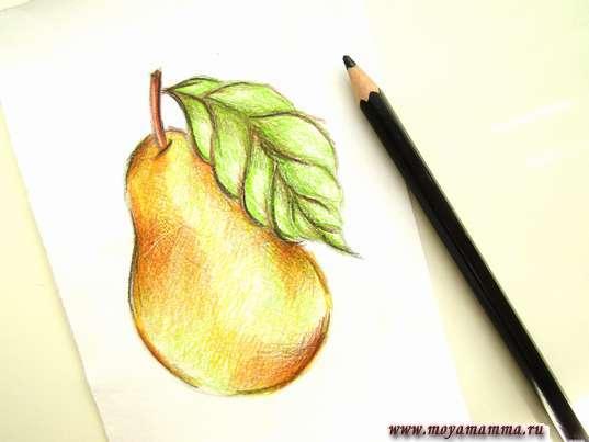 Дорабатывание рисунка черным карандашом