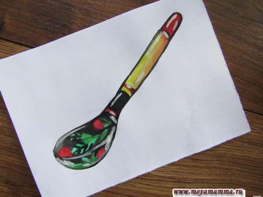 хохломская роспись ложка