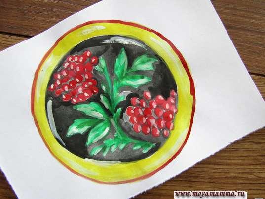хохломская роспись тарелка
