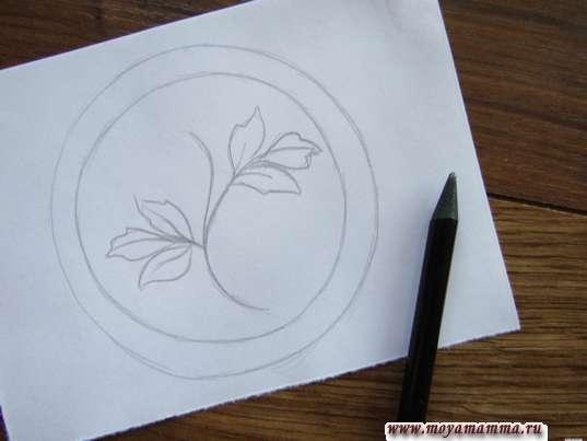 ветви и листья разной величины и формы