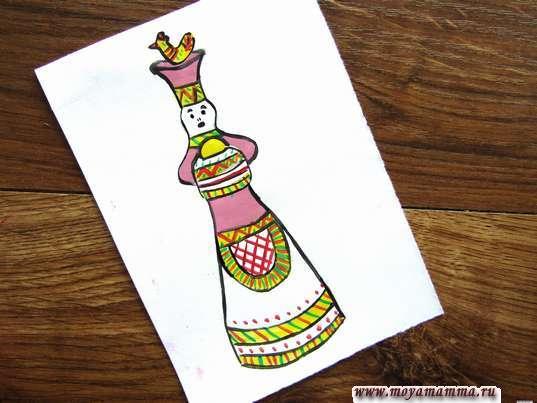 как нарисовать филимоновскую игрушку