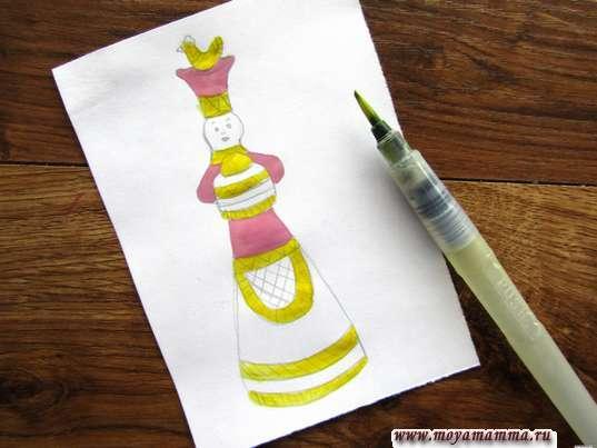 Использование желтого цвета