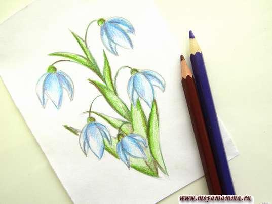 Использование фиолетового и коричневого цветов