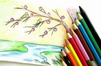 Как нарисовать весну карандашами