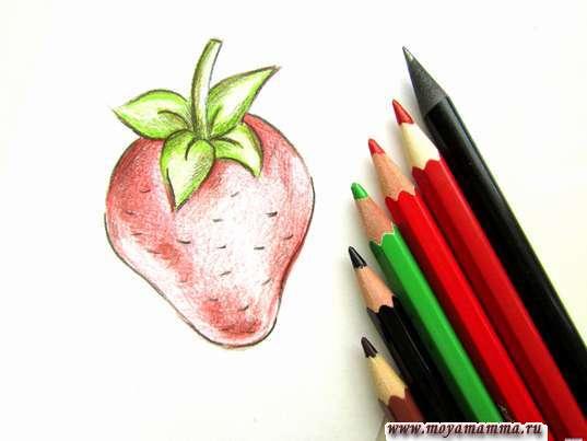 клубника карандашами