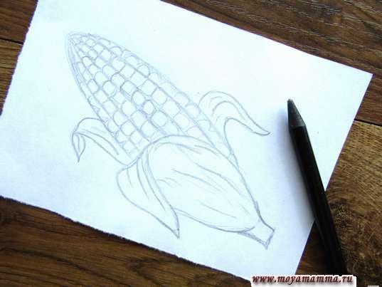 Готовый набросок кукурузы