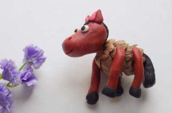 Лошадь из шишки