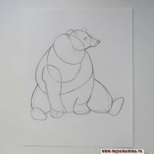 Набросок медведя