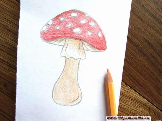 Рисование бежевым карандашом