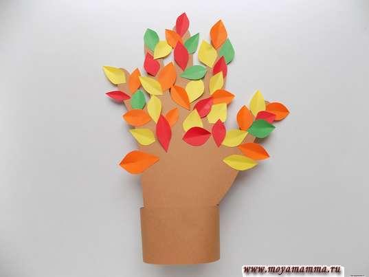 поделка на тему Осень из бумаги