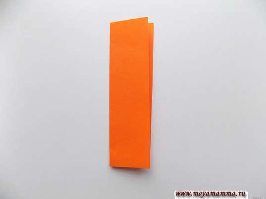 Полоска из оранжевой бумаги