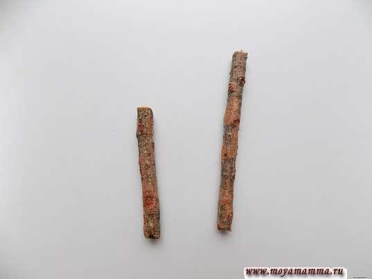 Пара палочек разной длины