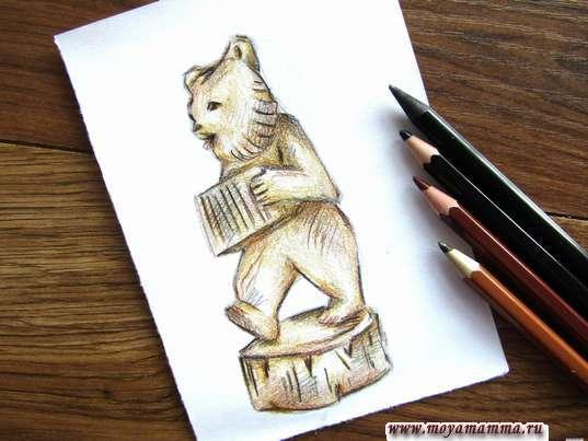 рисунок богородская игрушка